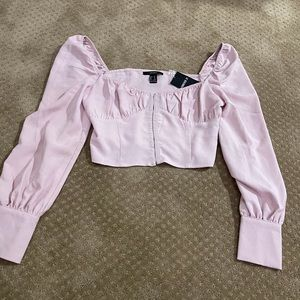 NWT Forever 21 cropped shirt